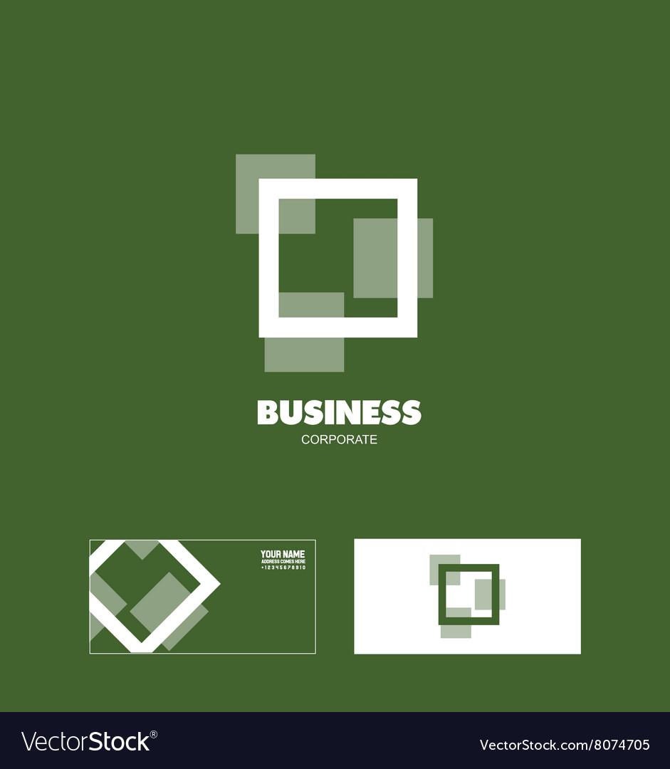 Business square corporate logo