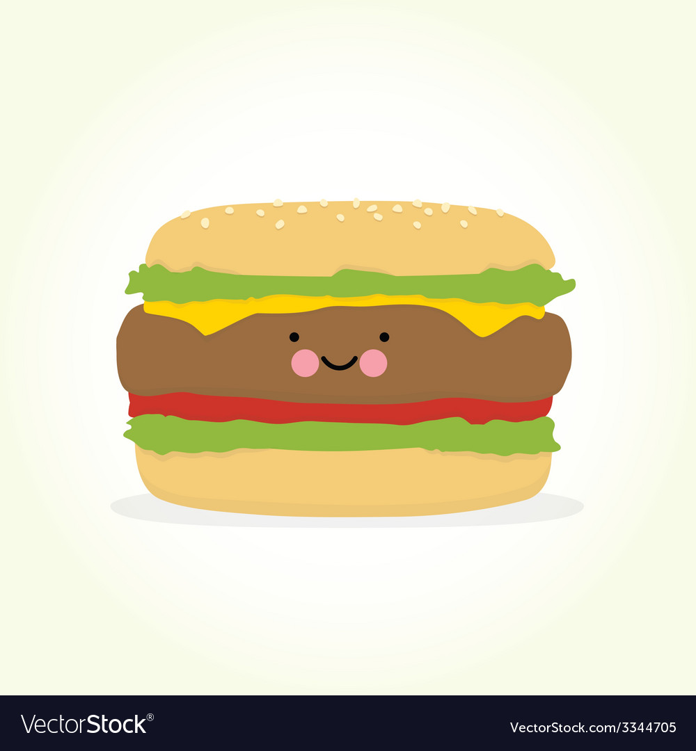 Cute cartoon burger
