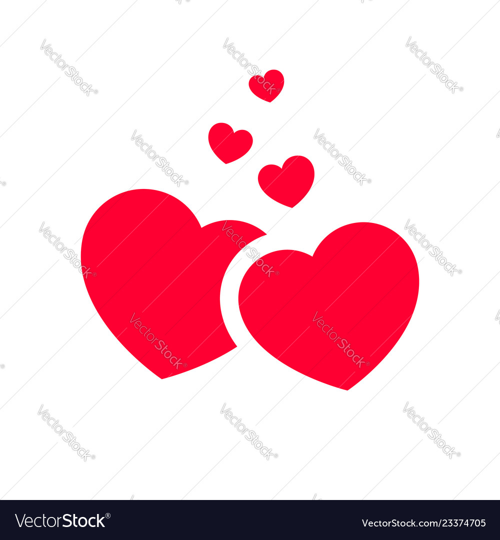 Love icon or valentines day sign designed for