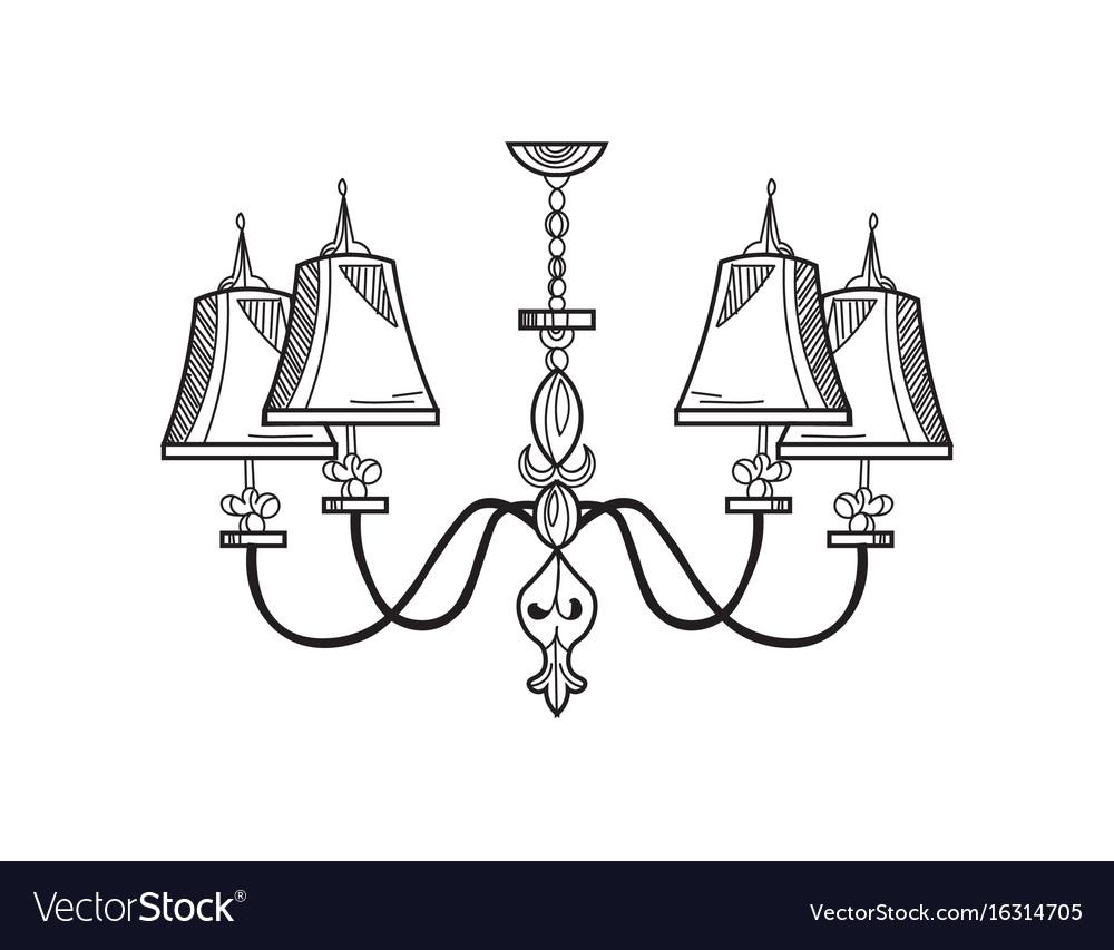 Rich baroque classic chandelier luxury decor vector image aloadofball Images