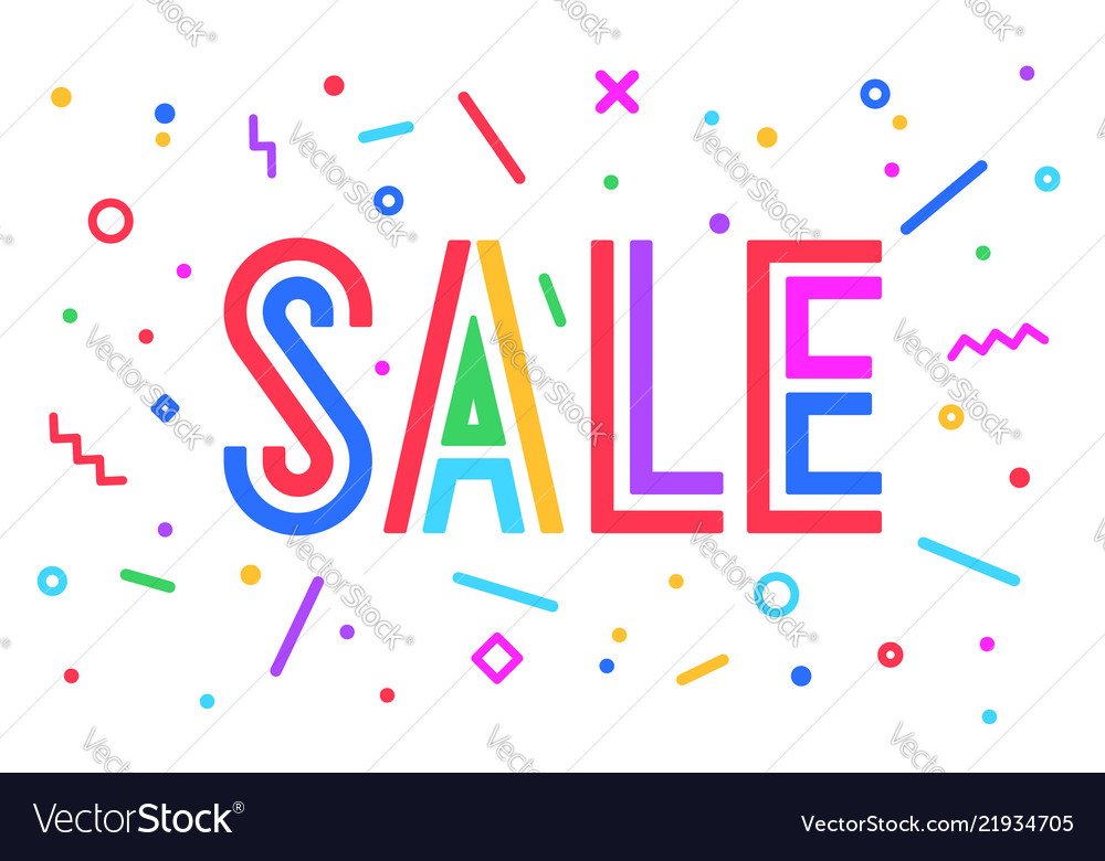 Sale discount greeting card banner poster and