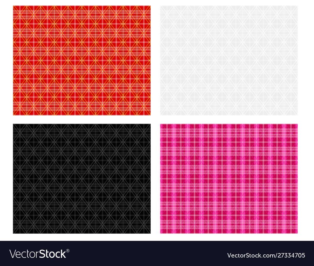Seamless modern thai plaid pattern