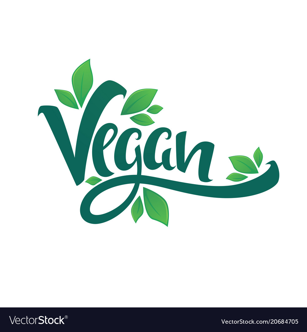 Vegan healthy and organic green glossy leaves vector image