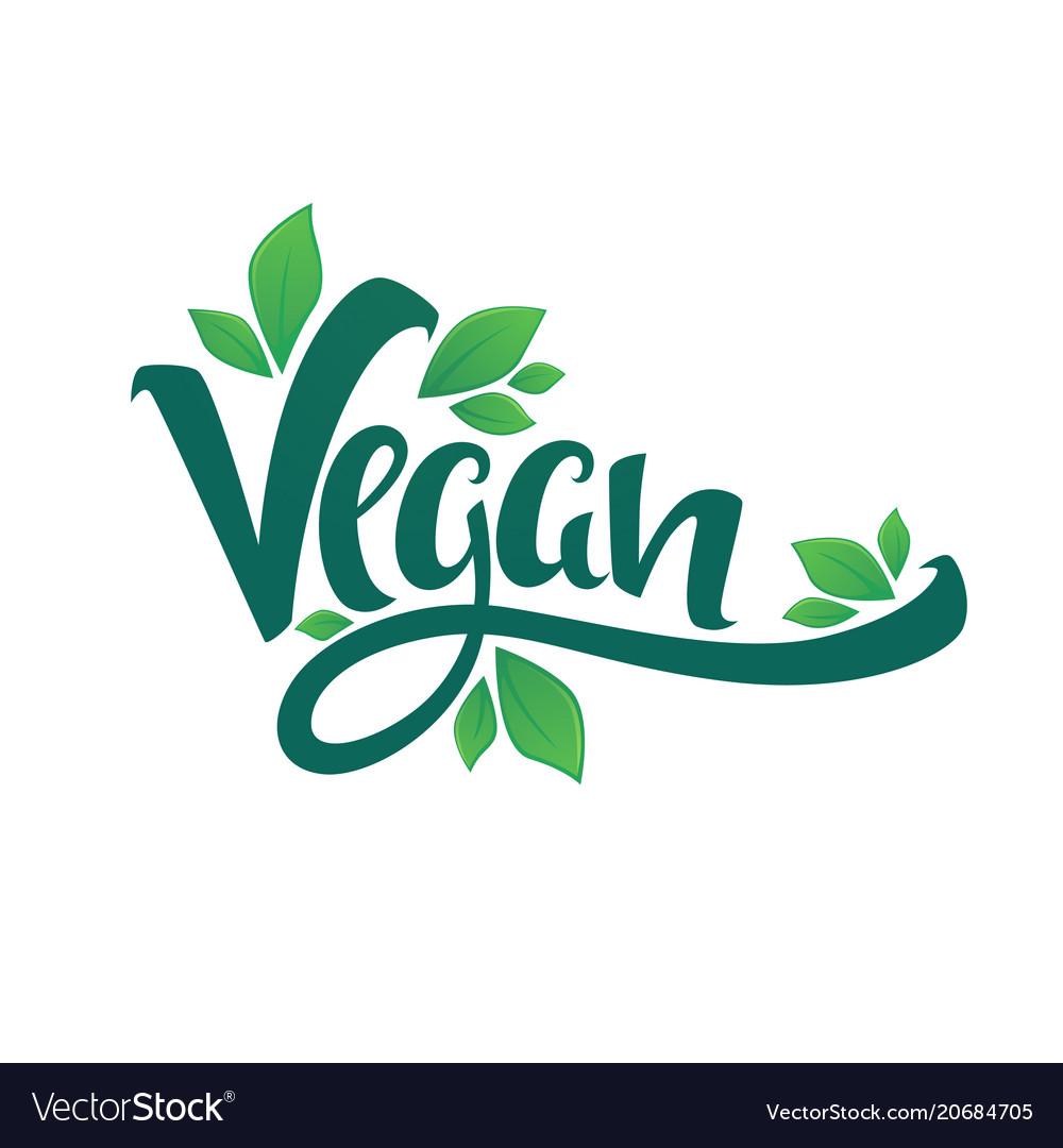 Vegan healthy and organic green glossy leaves