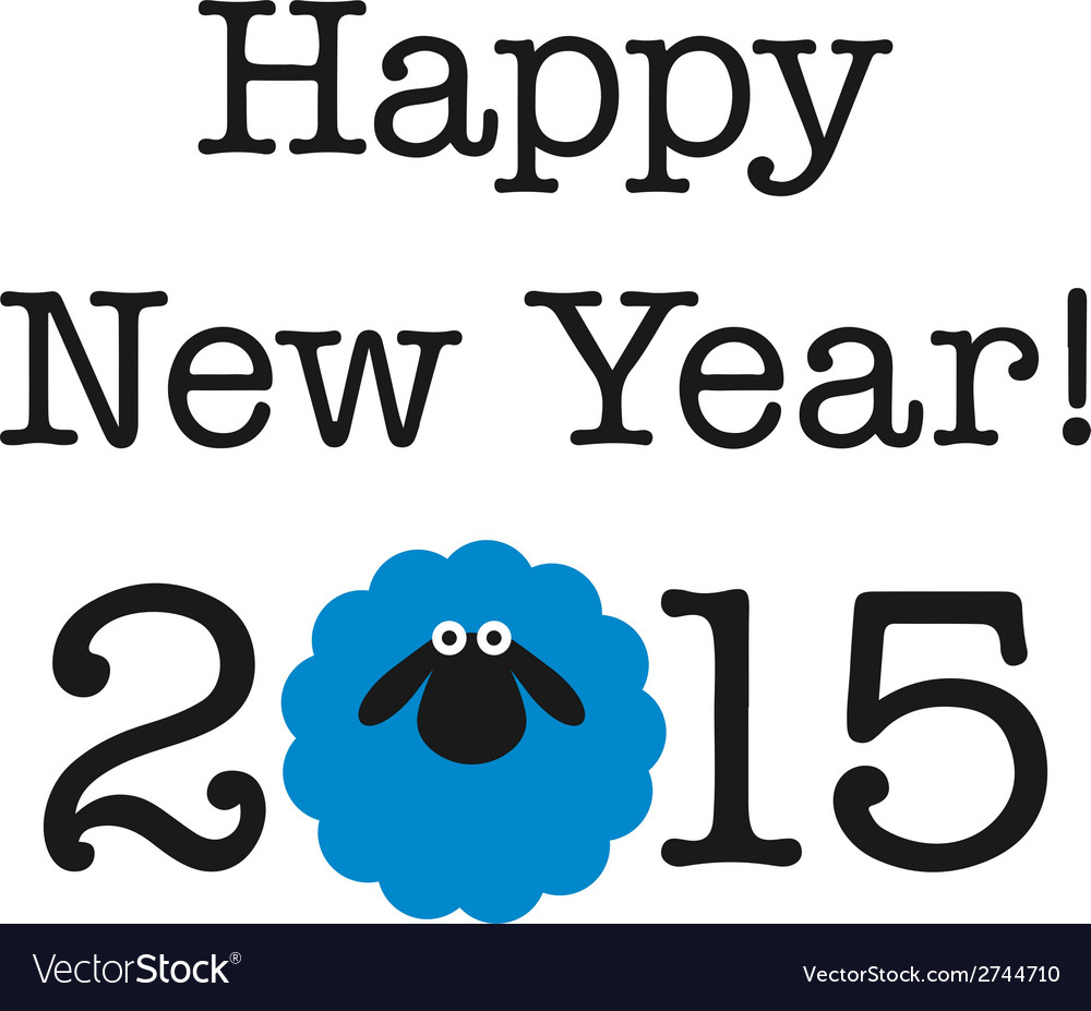 2015 new year card with sheep