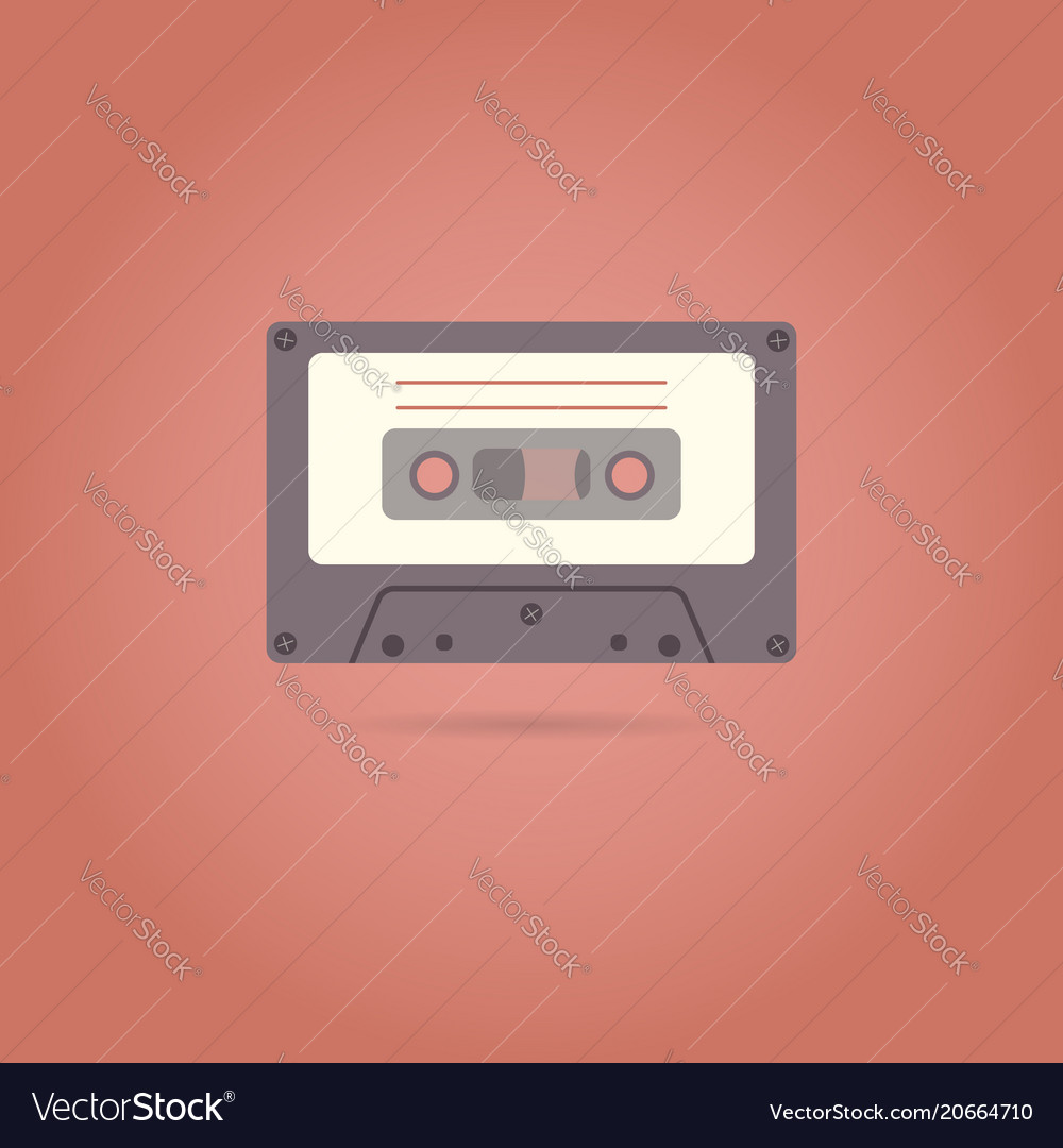 Cassette flat style icon