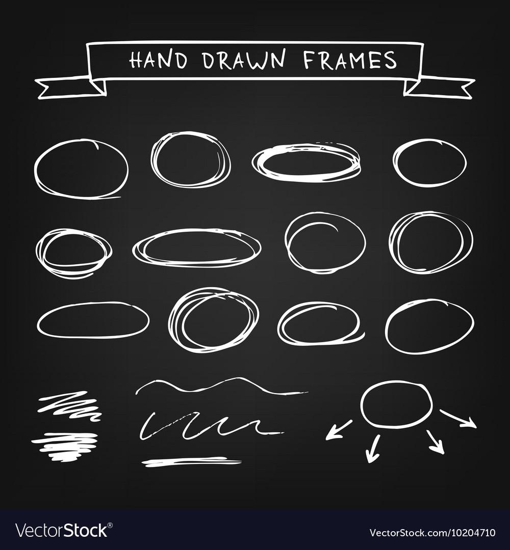 Chalk hand drawn frames