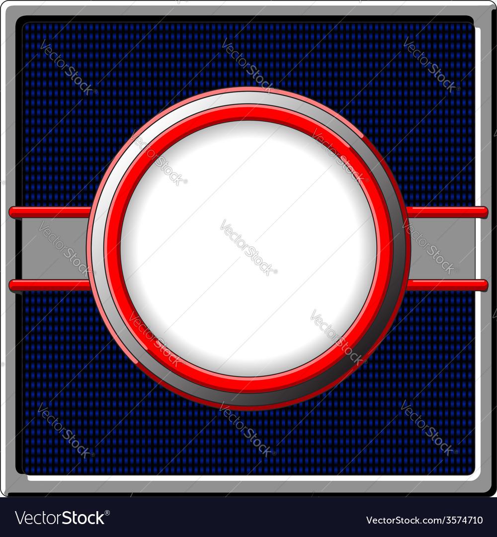 Chrome frame vector image