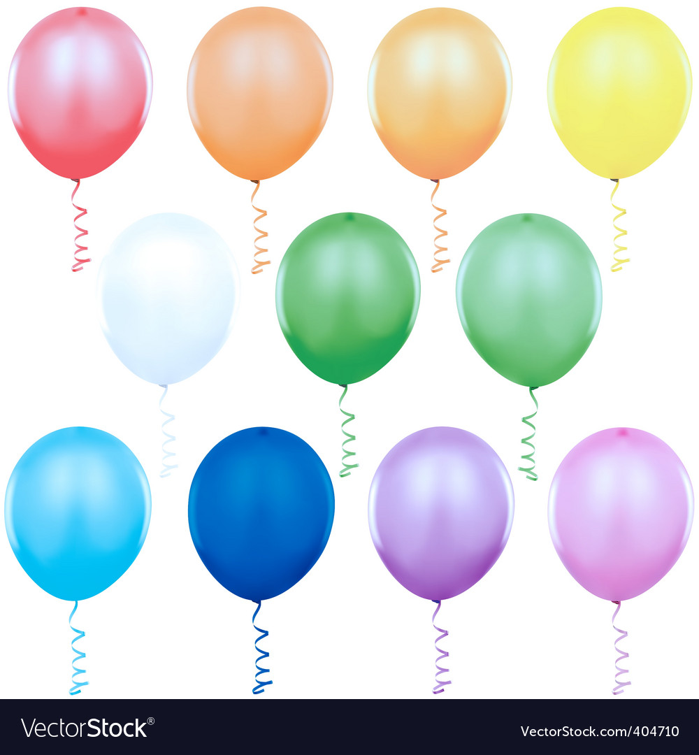 colored balloons singles royalty free vector image