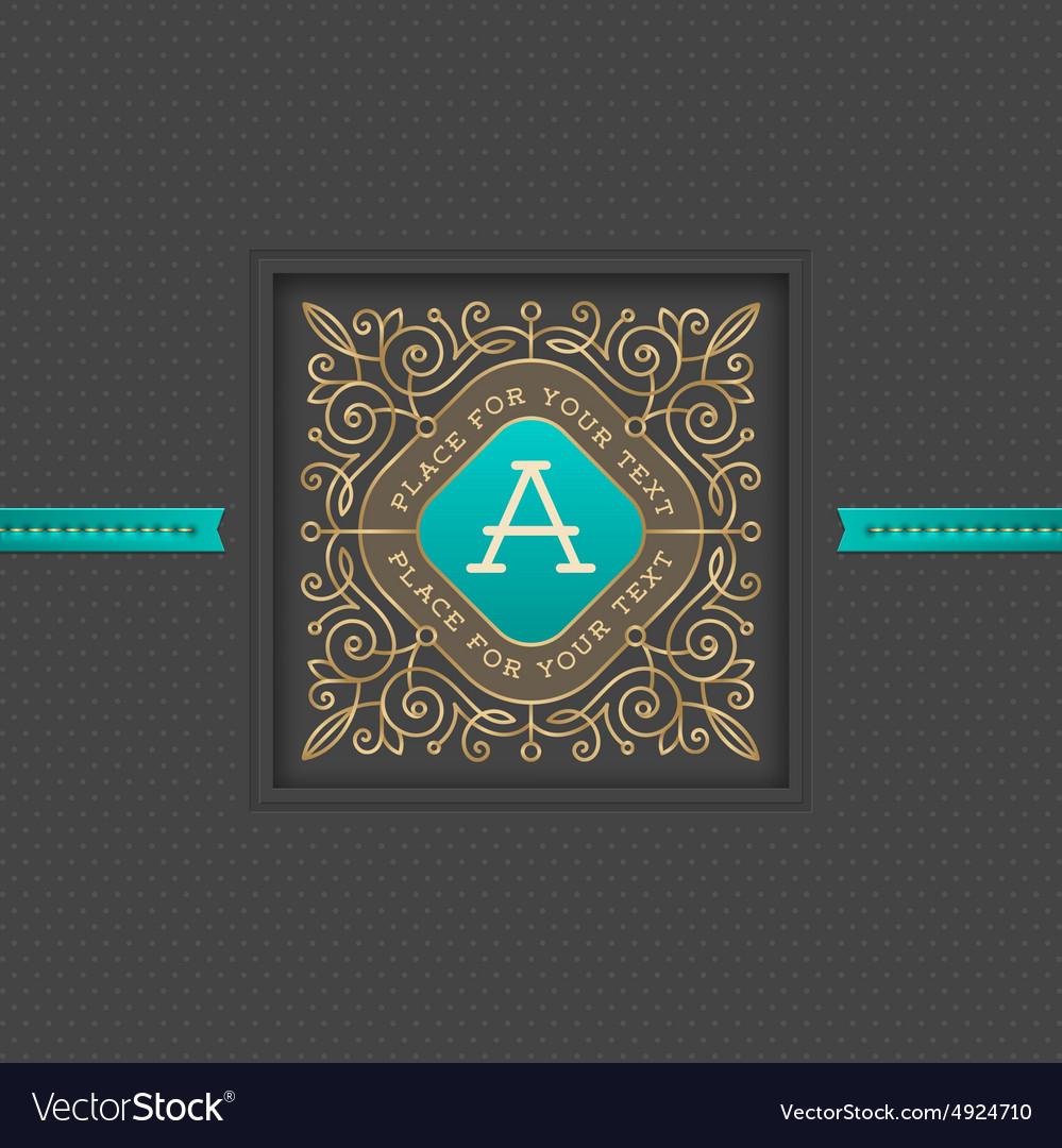 Monogram logo template design