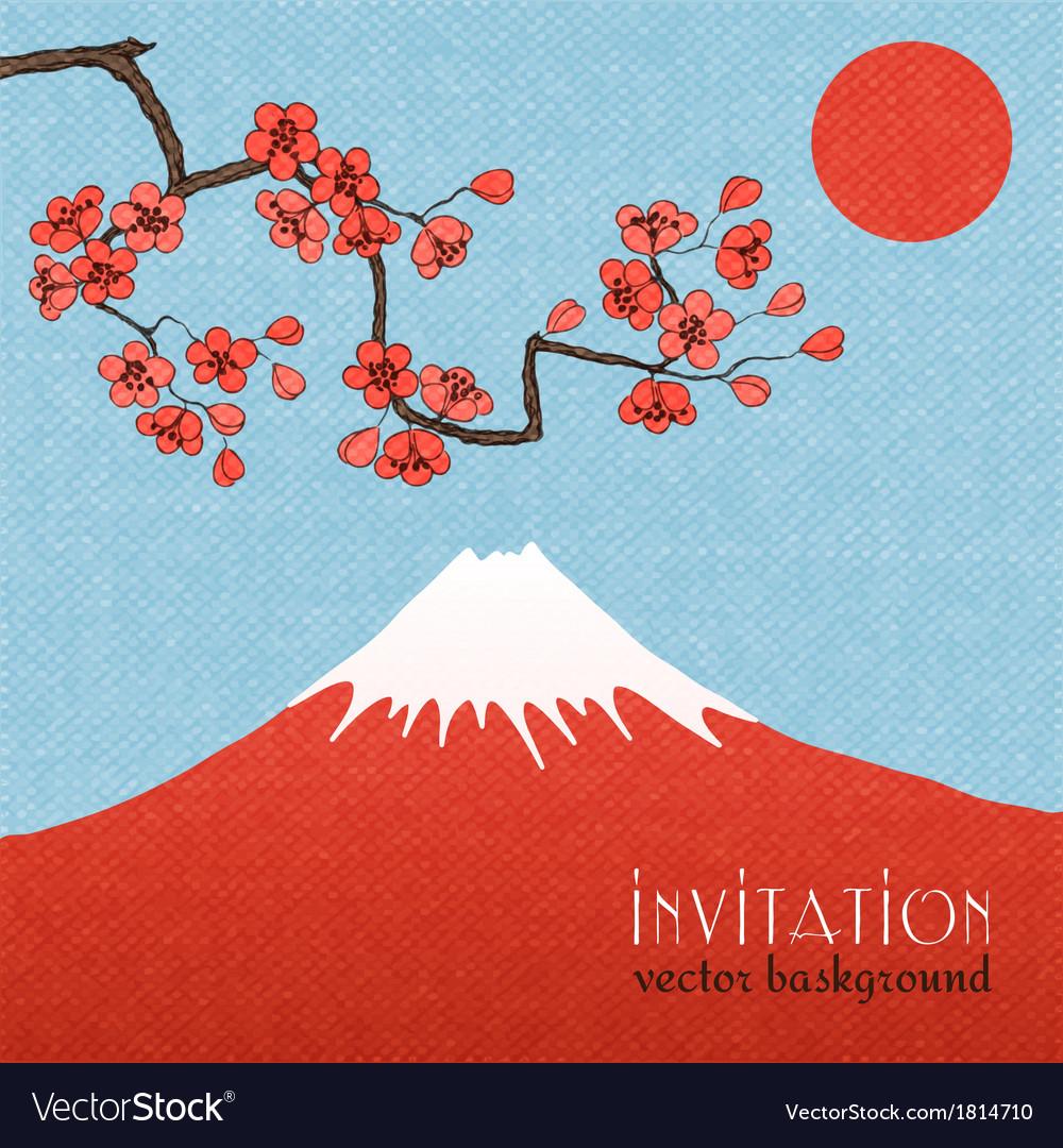 Sakura invitation card background or poster