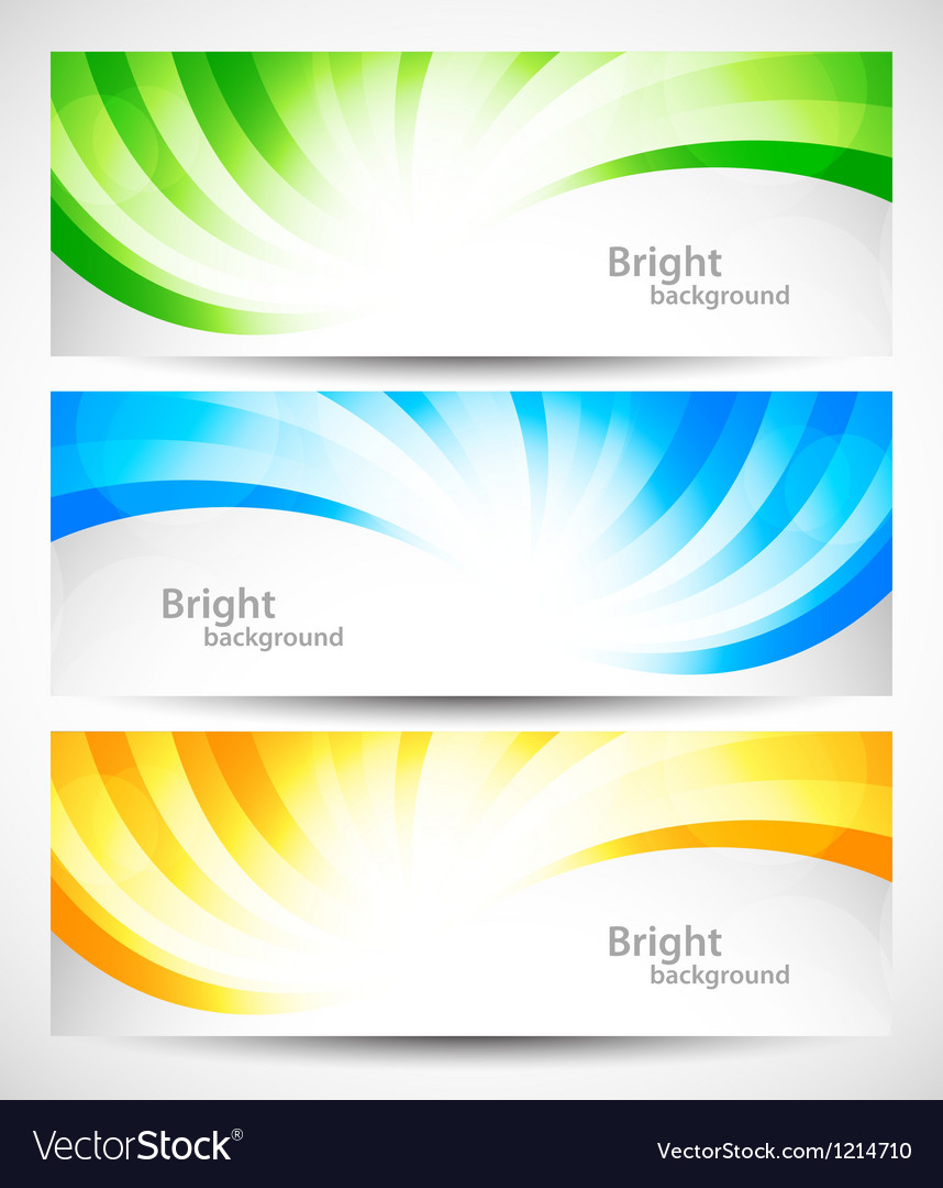 Set of swirl banners