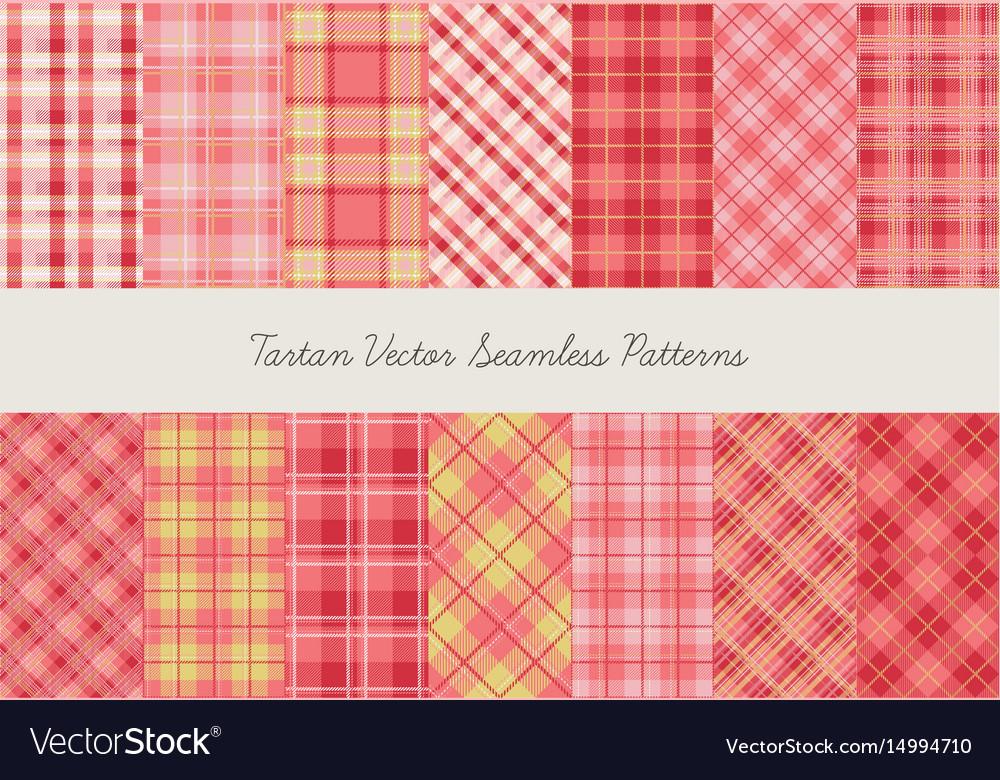 Tartan seamless patterns