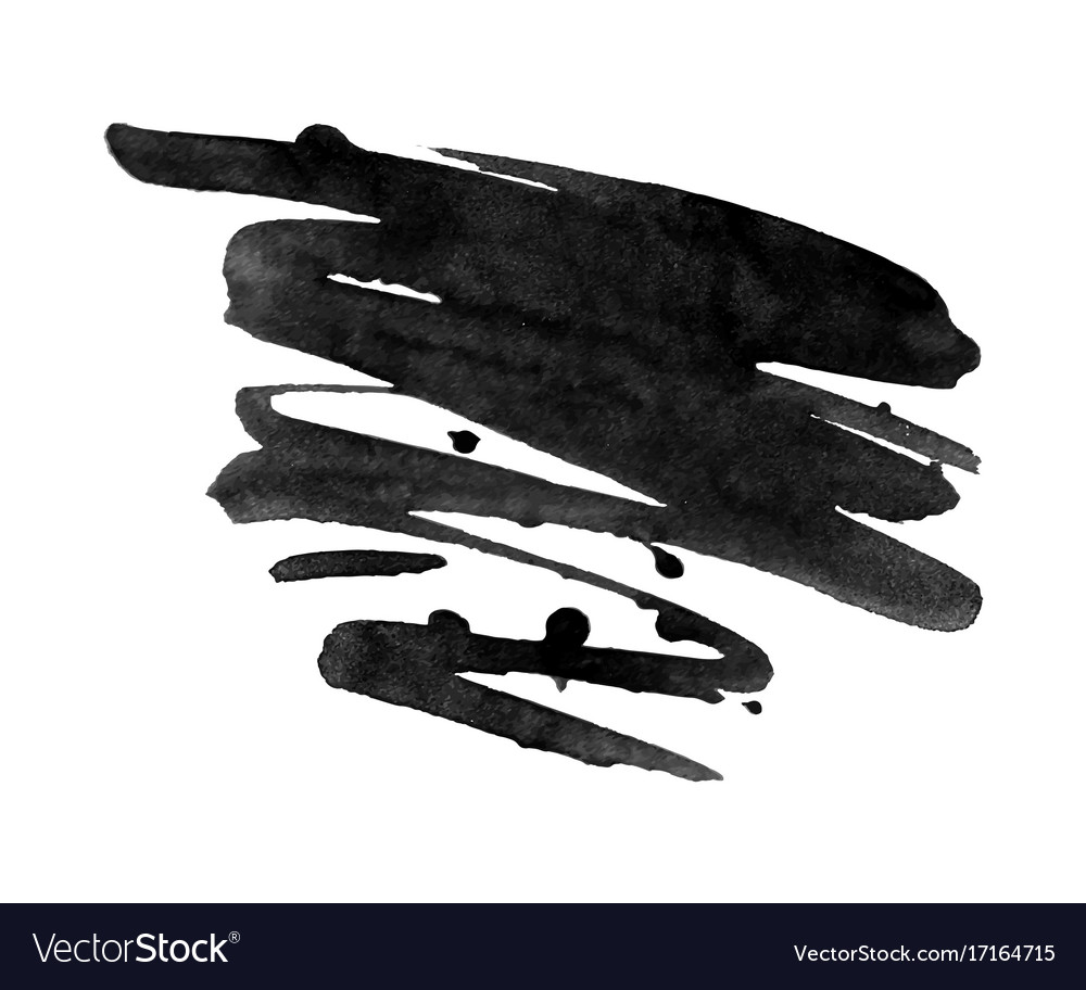 Abstract black ink blot background