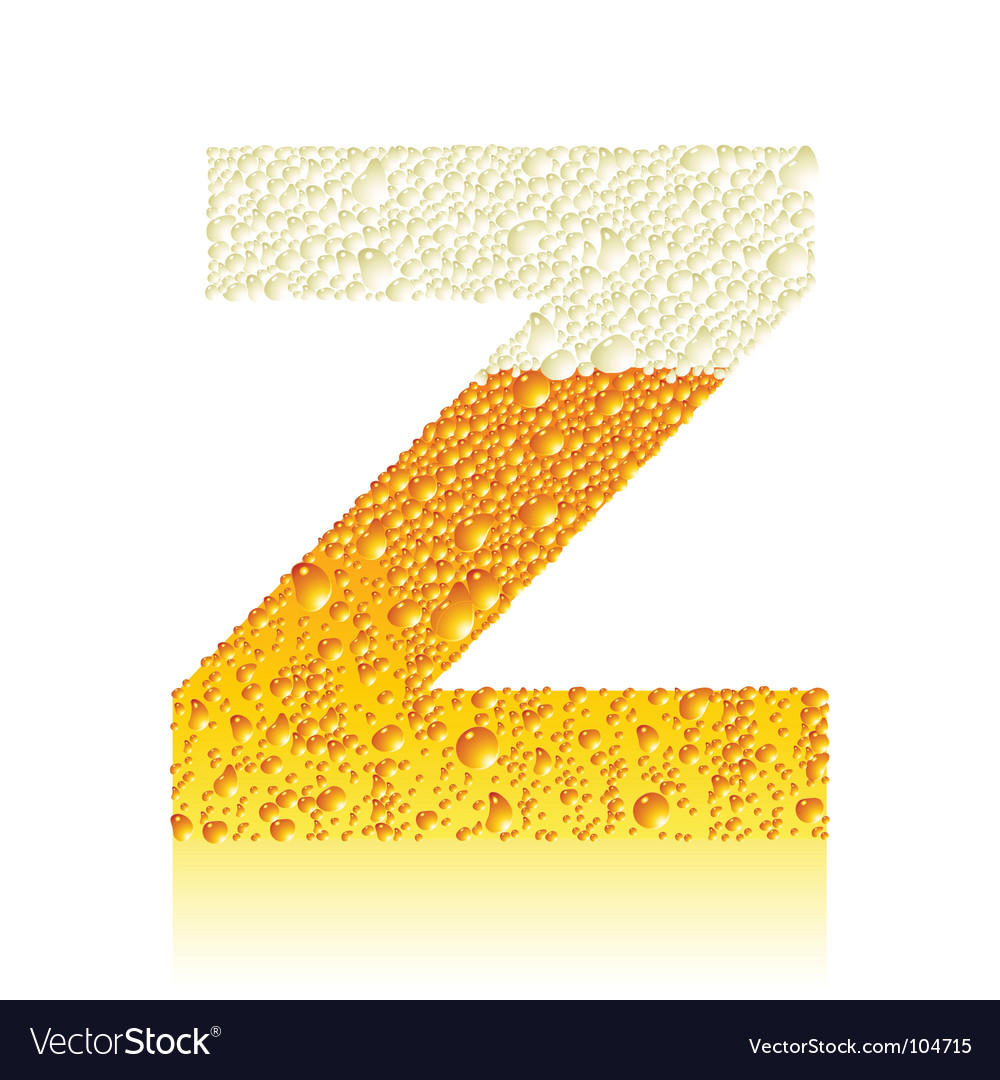 Alphabet beer z vector image