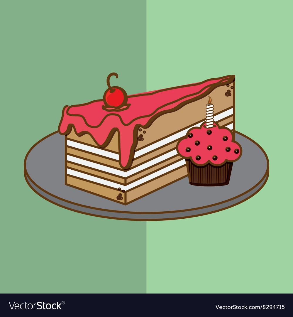 Cake Icon Design Royalty Free Vector Image Vectorstock