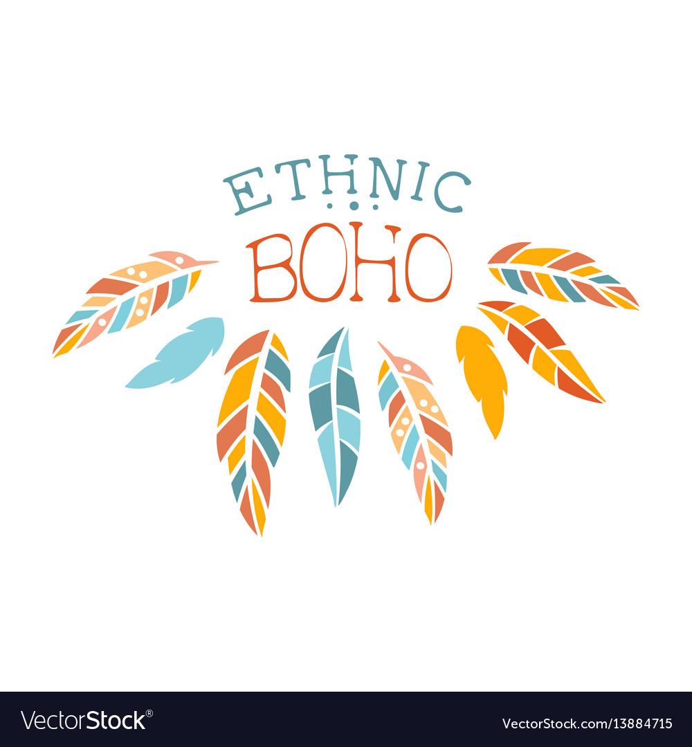 Ethnic boho style element hipster fashion design vector image