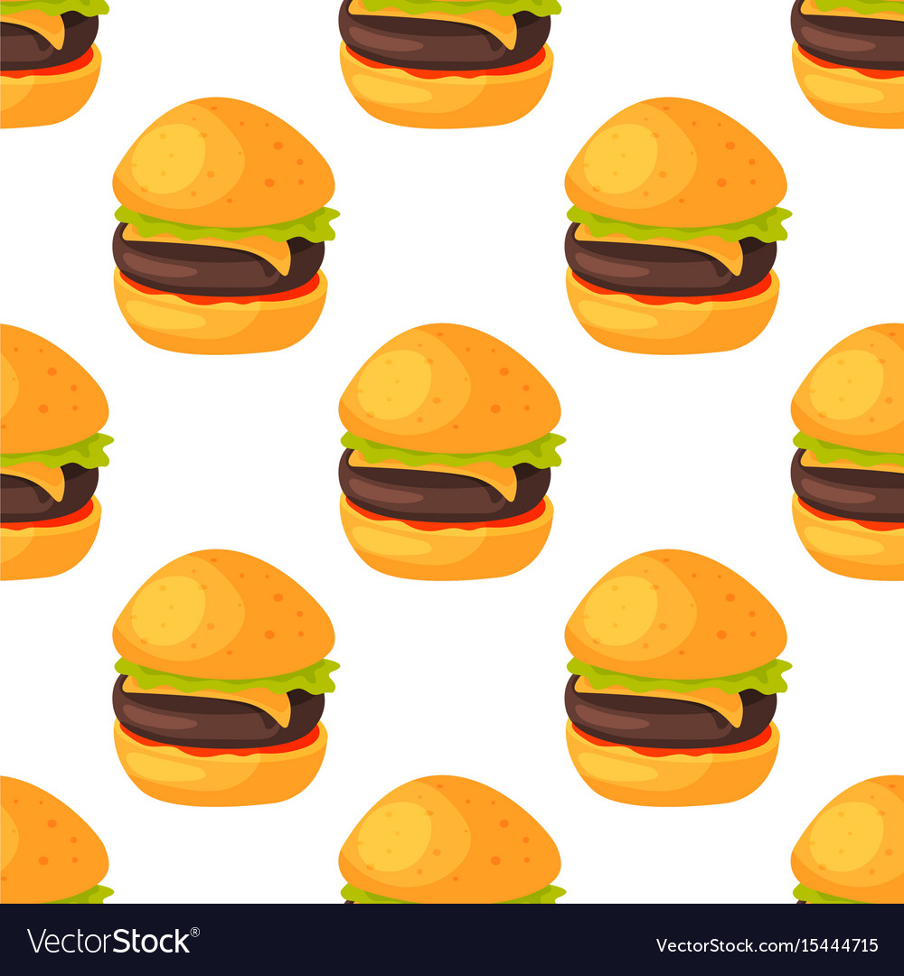 Fast food seamless pattern natural menu restaurant