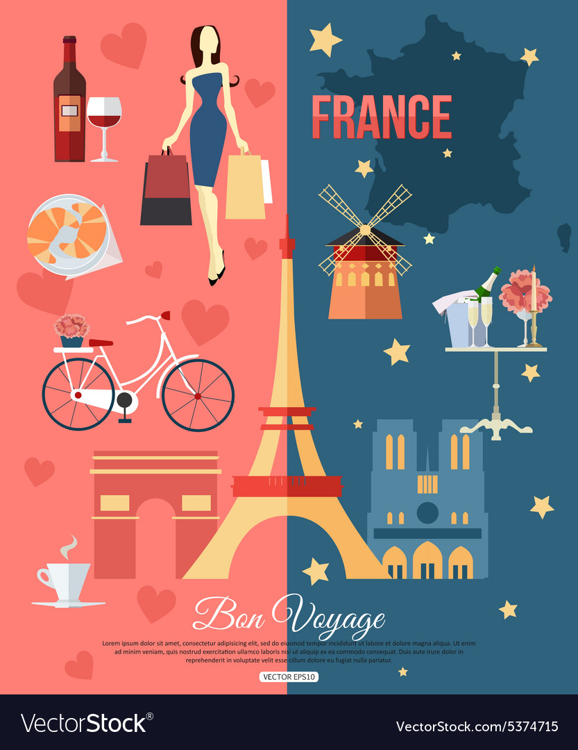 France travel background with place for text Set