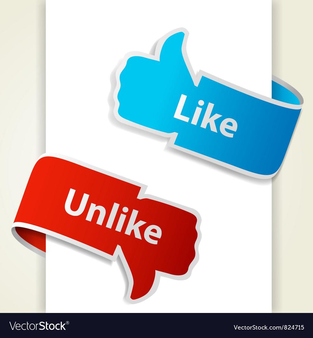 Like and unlike icons