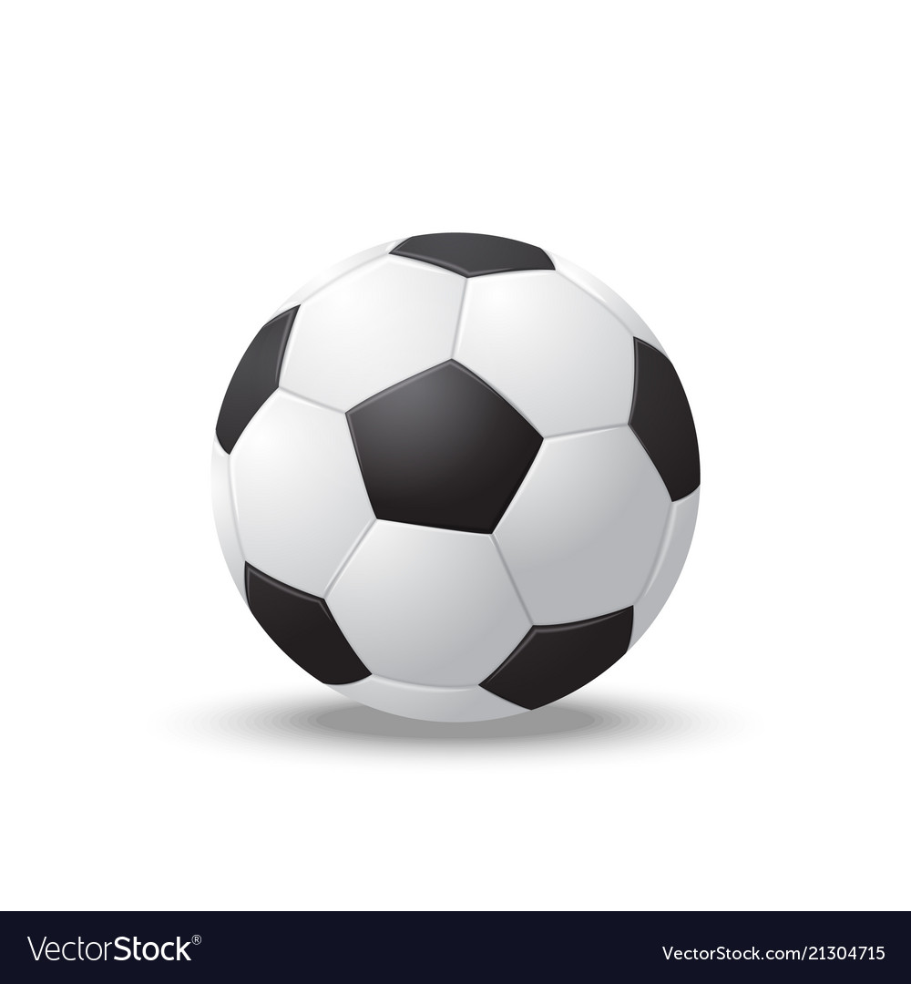 Realistic detailed 3d soccer ball