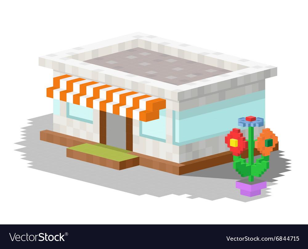 Shop market building