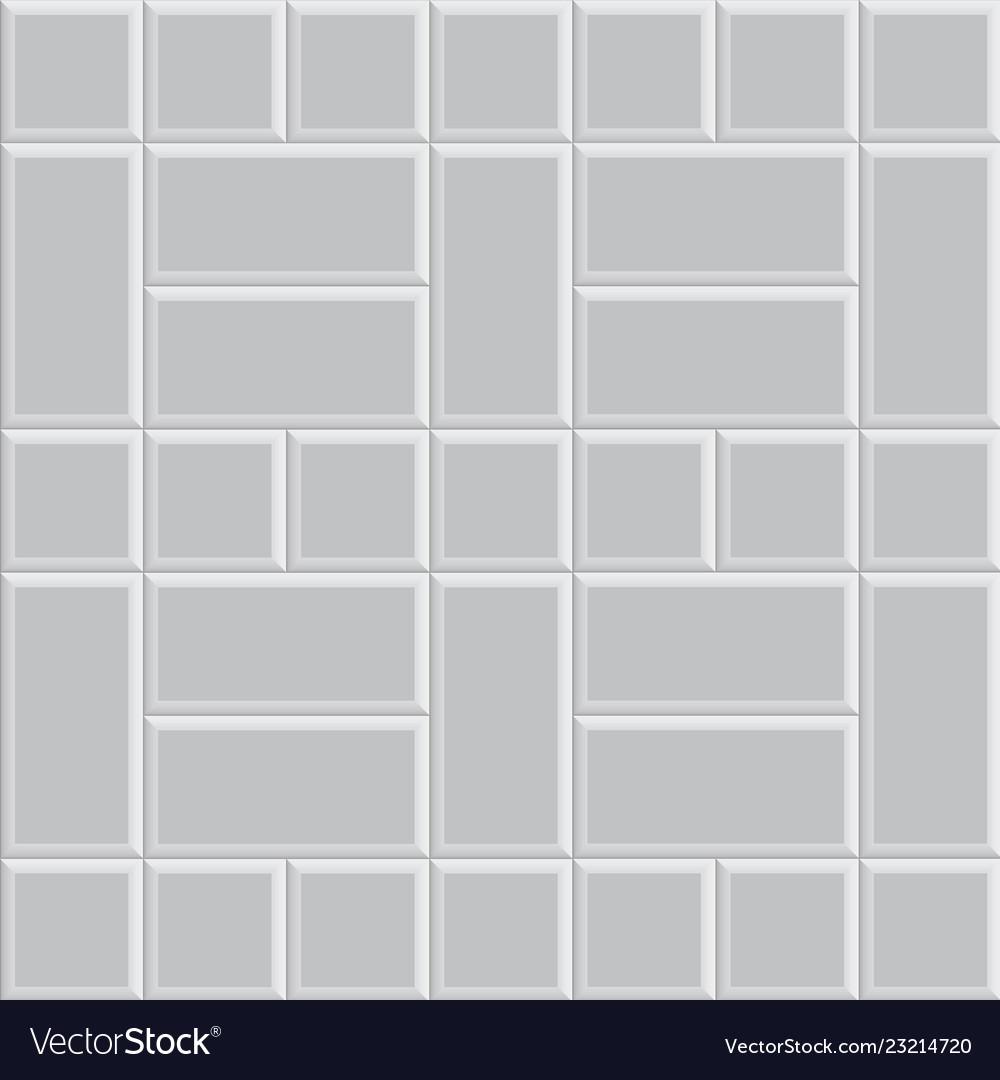 3d Brick Stone Pavement Texture Background Gray Vector Image