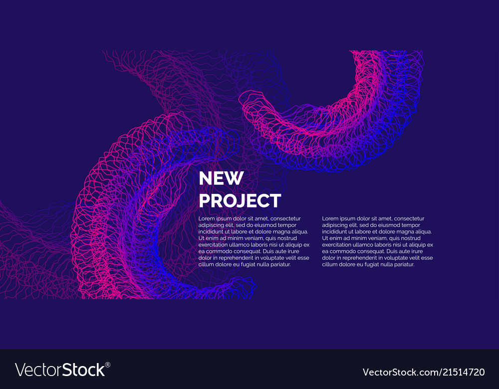 Bright abstract background with a dynamic waves