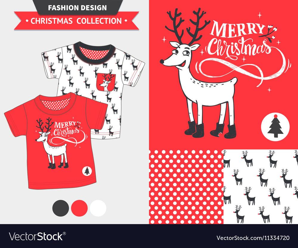 Christmas Fashion Design Set Royalty Free Vector Image