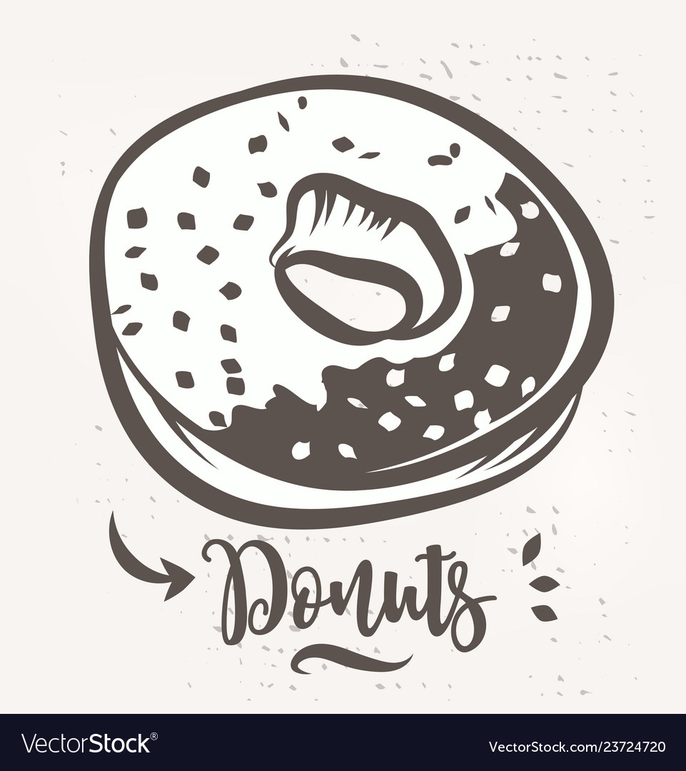 Donut poster with cool design stock