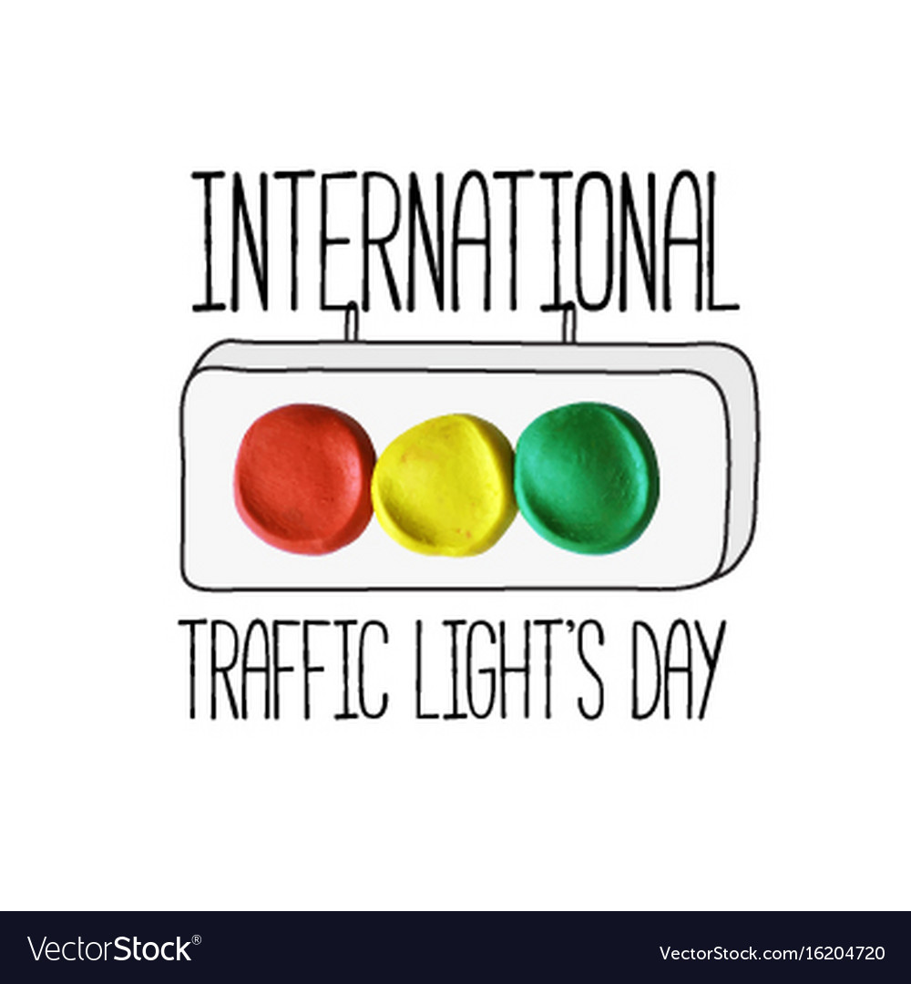 International traffic lights day poster