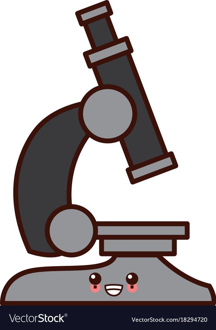 microscope scientific tool kawaii cartoon vector image vectorstock