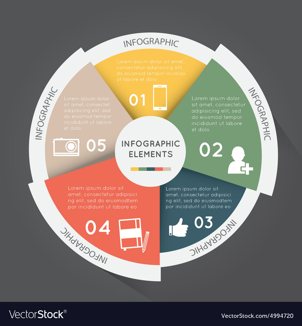 modern infographic elements pie chart royalty free vector