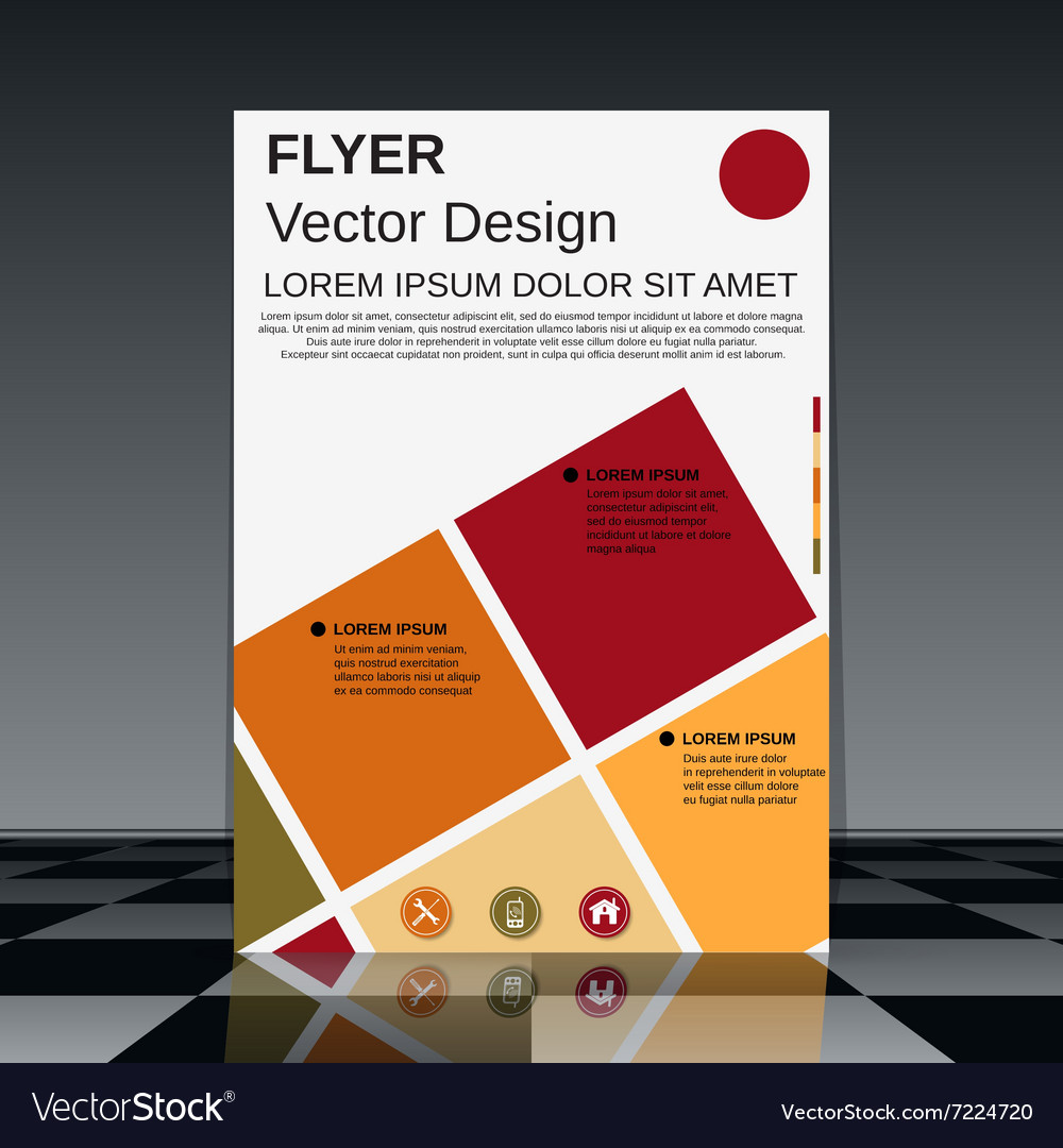 professional flyer design template royalty free vector image