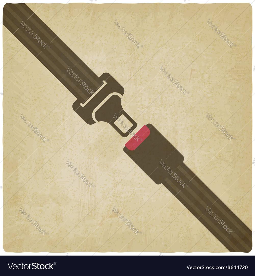 Safety belt old background