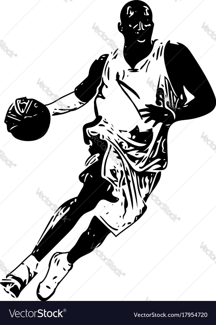 sketch of basketball player royalty free vector image rh vectorstock com baseball player vector art basketball player victory from tacoma academy