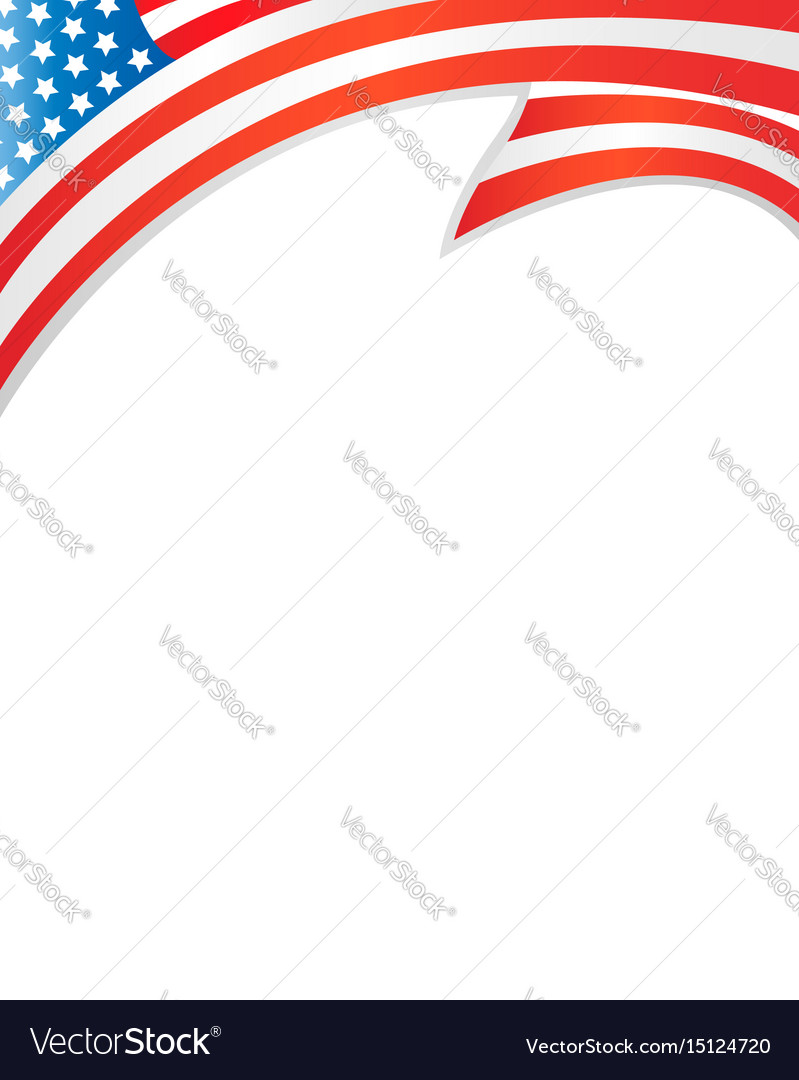 usa flag border template royalty free vector image