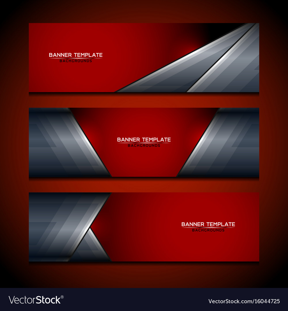 banner red background design royalty free vector image