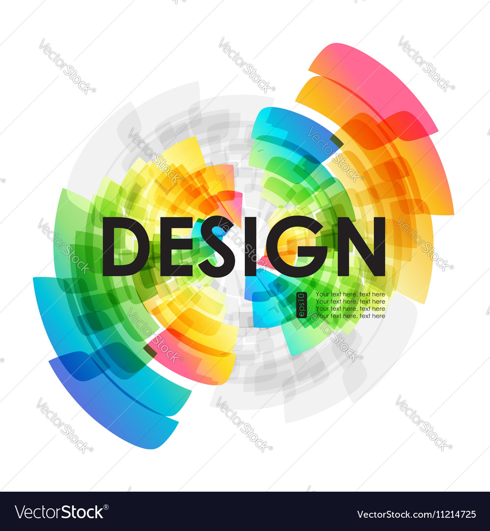 Circular background vector image