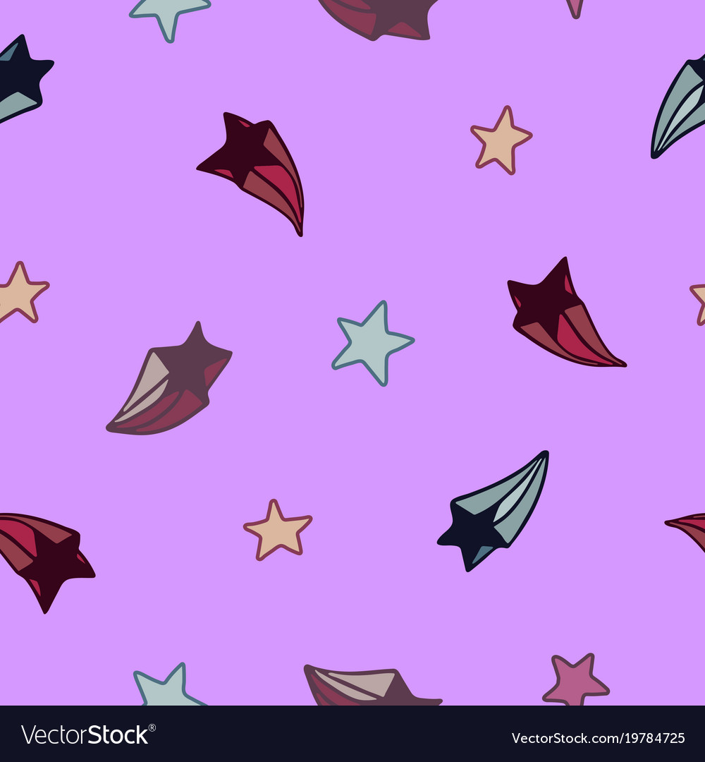Lovely seamless pattern with hand-drawn stars vector image