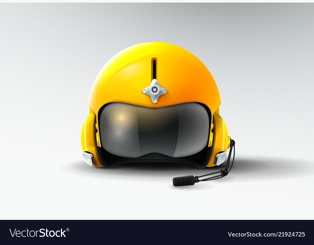 Pilot jet helmet aviator