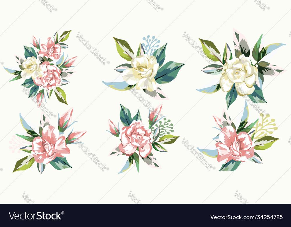 Set bouquets roses