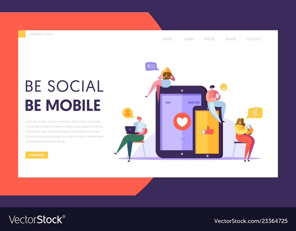 Social media communication technology landing page