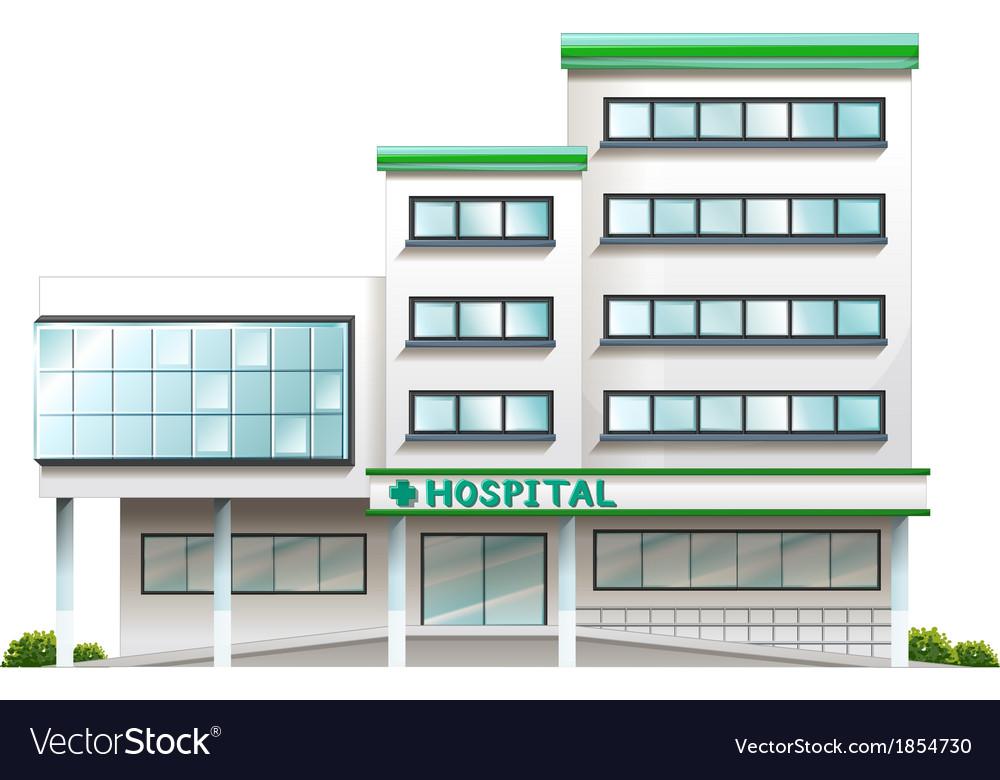 A hospital building vector image