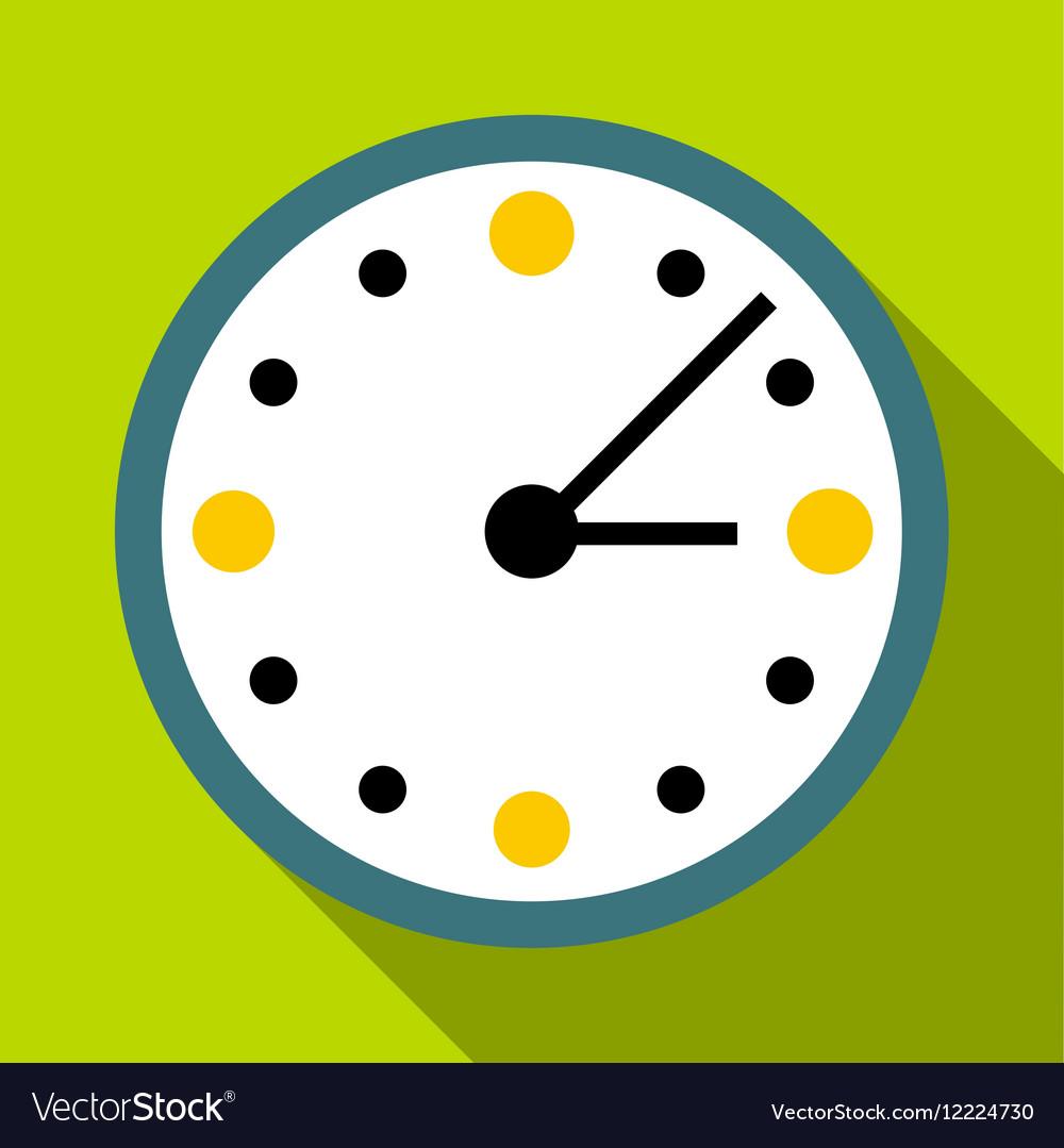 Big wall clock icon flat style vector image