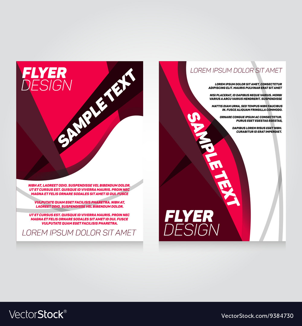 brochure flier design template concert royalty free vector
