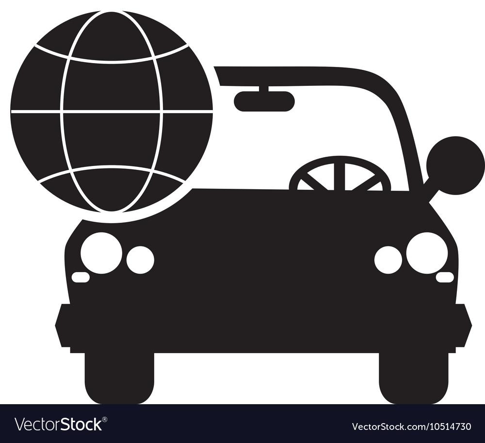 car and earth globe diagram icon royalty free vector image rh vectorstock com