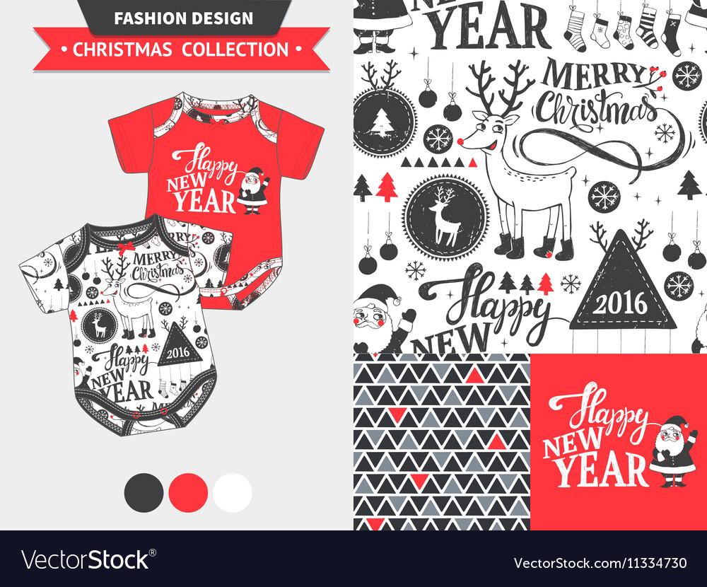 Christmas Jersey Design.Christmas Fashion Design Set