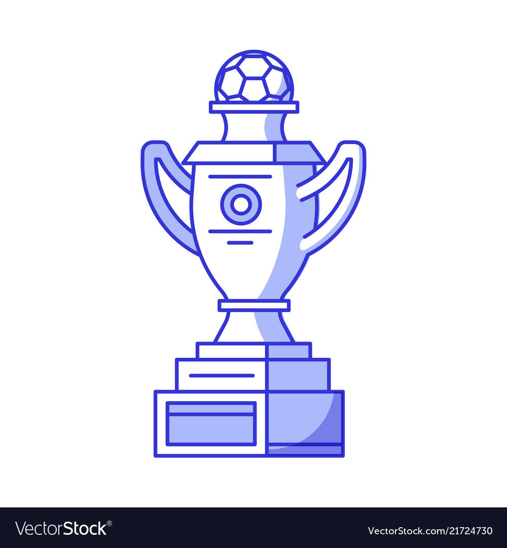 Football or soccer trophy cup icon