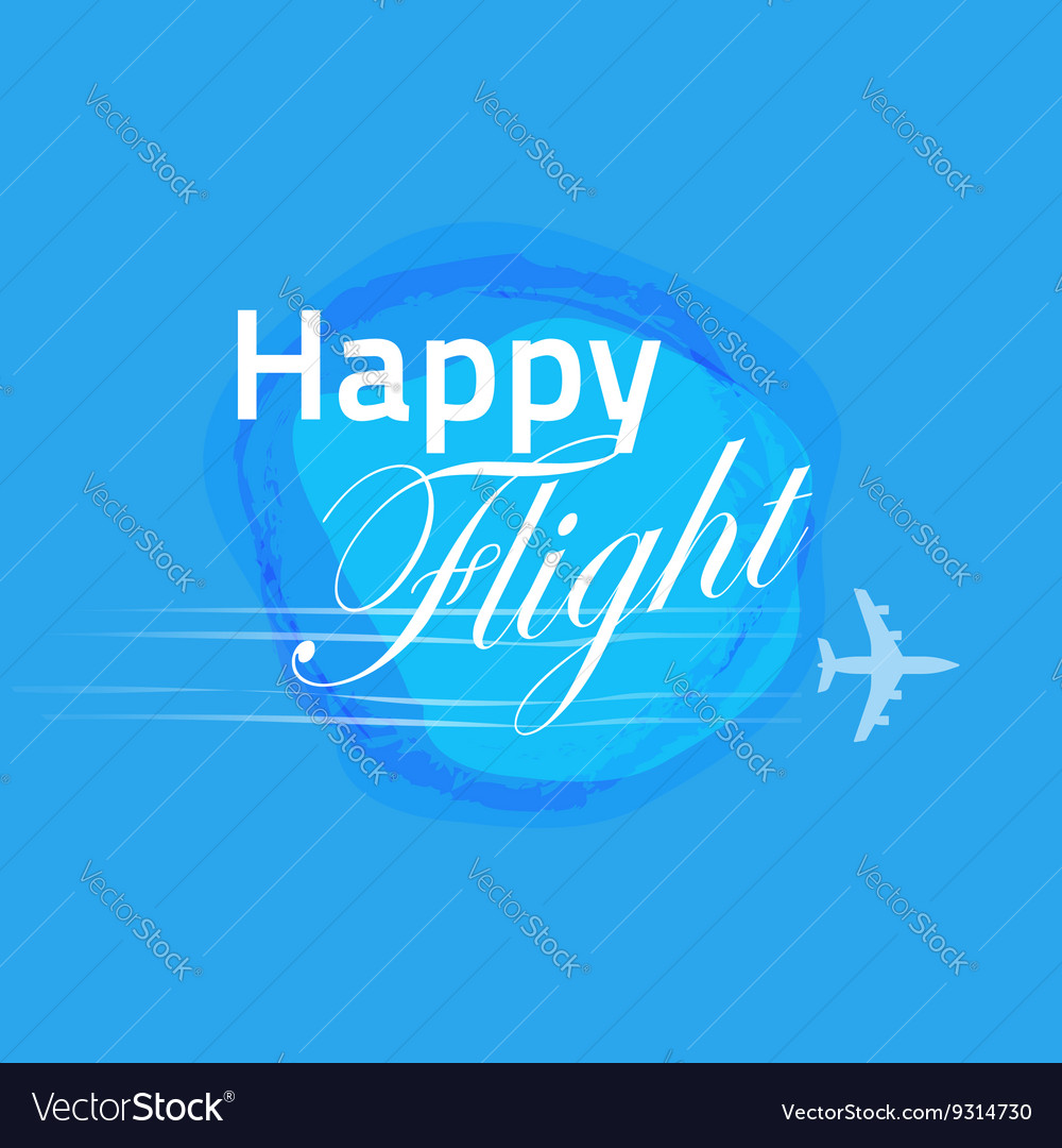 Happy flight card blue banner design